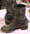 Dr Martens Womens Black Leather Lace Up Heels Shoes 7 WELL WORN