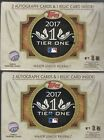 2017 Topps Tier One Hobby Sealed box 2 autos 1 relic ( 2 boxes)