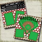BASEBALL DIAMOND 2 Premade Scrapbook Pages EZ Layout 2524