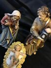 Hand Wood Carved PEMA KOSTNER Nativity Scene Holy Family color Italy 5