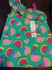 SIZE 5 GIRLS JUMPING BEAN SLEEVELESS TOP WITH WATERMELONS