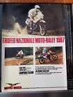 MOTO GUZZI NATIONAL TROPHY MOTO RALLY 1987 ITALIAN ITALY 650CC NTX DEALER POSTER