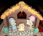 Nativity Set Precious Momemts Xmas Village Figurines Gift Christmas Mantel Devor