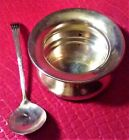 Small Sterling Silver Bowl and Mini-Ladle/Soup Spoon, ANTIQUE BRITISH 1896-1916