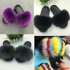 Fashion Flat Women Real Fox Fur Slippers Slides Indoor Outdoor Shoes Slippers