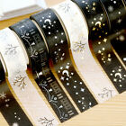 Christmas Set Gold Foil Printing Japanese Washi Paper Tape 15mm X 5m EF