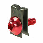 Red 10x M5 5mm Fairing Bolts Fastener Clips Nuts Speed Screws Street Sport Bike