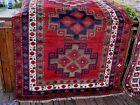 AMAZING ANTIQUE -1910 CAUCASIAN  LORI PAMBAK  RUG WITH FULL PILE  GREAT COLORS