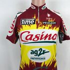 VTG Nalini Casino 1 4 Zip Cycling Jersey Size 3 S AG2R Prevoyance Italy Peugeot