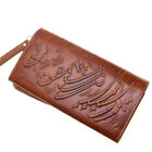 Genuine Leather Women Persian Parsi Poetry Clutch Wallet Iranian Gift Iran Bag