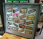 1979 Topps Chewing Gum Wacky Packages Sticker Cards Framed, Man Cave Item!