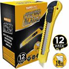 Compact Utility Knife Box Cutters 18mm Wide Heavy Duty Blade Cutter, 12 Pack