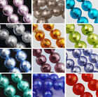 15pcs 10mm Silver Foil inside Round Lampwork Glass Loose Spacer Beads Jewelry