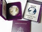 Gem Proof 1990 S American Eagle Silver Dollar 1 oz 999 Silver With Box and COA