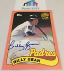 2017 Billy Bean Peach Fan Favorite Autograph Auto Topps Archives Card 150 FFABB