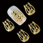 10pcs/lot Nail Art Rhinestone Metal DIY Nail Stickers Vintage Hollow Decorations
