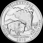 2010 P Yellowstone National Park Quarter Wyoming Brilliant Uncirculated ATB