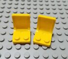 New LEGO Lot of 2 Yellow Minifig Seats Chair Accessories 3366 4441 4644