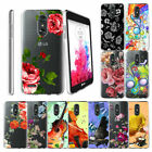 For LG Aristo 2  Fortune 2  Tribute Dynasty 2018 Clear TPU Case Flowers