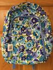 VERA BRADLEY LAPTOP BACKPACK NEW WITH TAG, SCHOOL AUTHENTIC, Blueberry Blooms