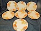 Set of 7 Vintage Franciscan OCTOBER China Salad Plates Fall Leaves