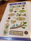 E60 Sticko Themed FAMILY Scrapbook Stickers bird house branch sayings leaves