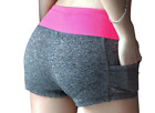 Women's Shorts Summer Elastic Waist Sporting Casual Printed Female Fitness Short