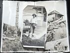 3 vintage photos men in blue jeans with 7 cuffs