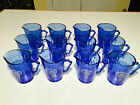 LOT 12 Vtg HAZEL-ATLAS Blue Glass SHIRLEY TEMPLE CHILDS PITCHER Collect Resell