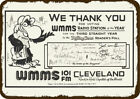 1982 WMMS 101 FM CLEVELAND 1 ROCK RADIO STATION Vintage Look Replica Metal Sign