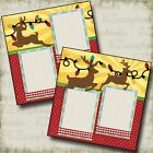 REINDEER Christmas 2 Premade Scrapbook Pages EZ Layout 2201
