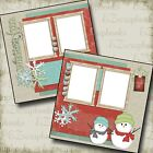 WINTER FUN Christmas 2 Premade Scrapbook Pages EZ Layout 116