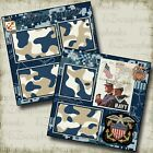 NAVY 2 Premade Scrapbook Pages EZ Layout 205