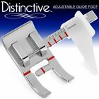 Distinctive Adjustable Guide Sewing Machine Presser Foot - Fits All Low Shank Sn