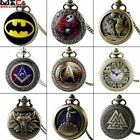 Antique Full Hunter Pocket Watch Steampunk Pendant Vintage Necklace Chain Retro