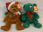 Lot of 2 Beanie Babies: 2008 Holiday Teddy and Hark  with tags