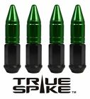24 TRUE SPIKE 86MM 1 2 STEEL LUG NUTS GREEN EXTENDED APOLLO SPIKES FOR JEEP CJ5