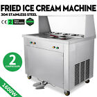 2 Pan 5 Buckets Fried Ice Cream Machine Sorbet Juice Yogurt Maker 2 Compressors