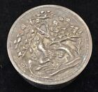 20TH CENTURY CHINA ROUND BOX SILVER FLOWERS/BIRD