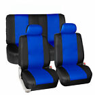 Synthetic Leather Seat Covers Car Suv Auto 2 Headrest Covers 6 Colors