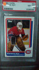 1986 Topps hockey 53 Patrick Roy rookie PSA 8 perfectly centered NM-MT