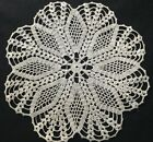 Very Vintage Hand Made Gorgeous Crochet Doily Scalloped Edges, 9 1/2