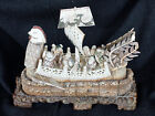ANTIQUE JAPANESE TAKARABUNE SHIP WITH FIGURES OF SEVEN GODS OF FORTUNE XIX cent.