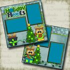 HOLIDAY HOOTS Winter Christmas 2 Premade Scrapbook Pages EZ Layout 2667