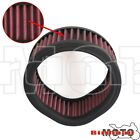 Red Air Filter Cleaner Reusable Round For Harley W SS Super EG Serie Carb New