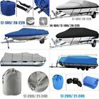 17 20 22 24 Trailerable Fish Ski Boat Cover 600D Waterproof Beam 100 V Hull