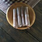 4 CINNAMON SCENTED CANDLES TABLE SHELF DISPLAY