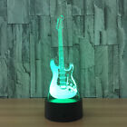 Guitar Band Music Touch USB 3D Neon LED Illusion Sign Night Light Lamp Glass