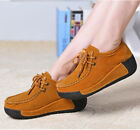 Womens Faux Suede lace Up Platform Shoes Casual comfy Sneakers