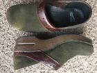 Dansko Clogs Forest Green Suede Size 38 US 8 85
